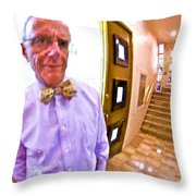 Love His Bow Tie Throw Pillow