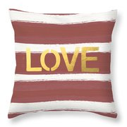Love In Gold And Marsala Throw Pillow