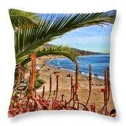 Love In Laguna Beach By Diana Sainz Throw Pillow