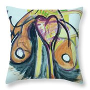 Love In The Chair Throw Pillow