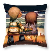 Love Is A Way Of Living Throw Pillow by Karin Taylor