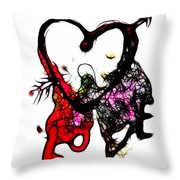 Love Is All Arround Throw Pillow