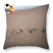 Love Is Blue Throw Pillow by Mark Ashkenazi