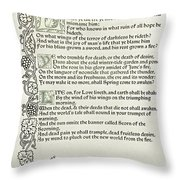 Love Is Enough Throw Pillow by William Morris