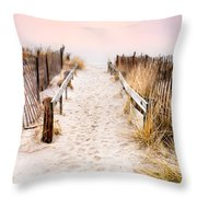 Love Is Everything - Footprints In The Sand Throw Pillow by Gary Heller