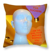 Love Is For Suckers Throw Pillow