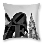 Love Is Just Black And White Throw Pillow