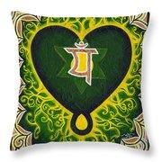 Love Is Spiritual Heart Chakra Throw Pillow