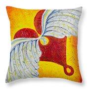 Love Is Taking Flight Throw Pillow