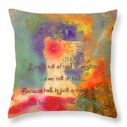 Love Is The Religion Throw Pillow