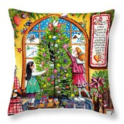 Love Is What Happens At Christmas Throw Pillow