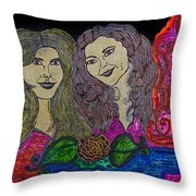 Love Ladies Throw Pillow