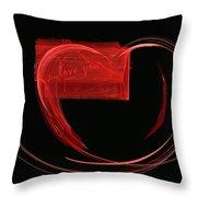 Love Letter Fine Fractal Art Throw Pillow by Georgeta  Blanaru