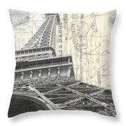 Love Letter From Paris Square Throw Pillow