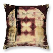 Love Letter Mandala - Contemporary Throw Pillow