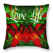 Love Life Mirrored Lilies Throw Pillow