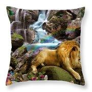 Love Lion Waterfall Throw Pillow
