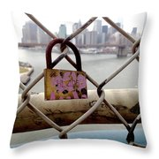 Love Lock Throw Pillow