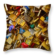Love Locks Eternal Throw Pillow