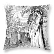 Love Lyrics And Valentine Verses, 1875 Throw Pillow
