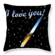 Love Message Digital Painting Throw Pillow