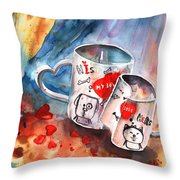 Love Mugs Throw Pillow
