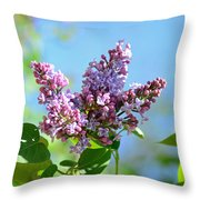 Love My Lilacs Throw Pillow