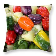 Love My Peppers Throw Pillow