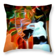 Love My Wine - Bright Colours Throw Pillow