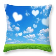 Love Nature Background Throw Pillow