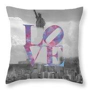 Love - New York City Throw Pillow