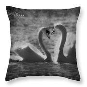 Love... Throw Pillow by Nina Stavlund