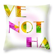 Love Not Hate Rainbow Crazy Daisies Throw Pillow