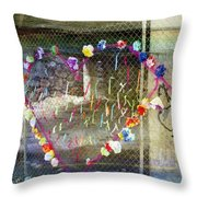 Love Note Under The Bridge Throw Pillow