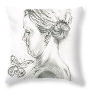 Loves- Her Butterflies Throw Pillow