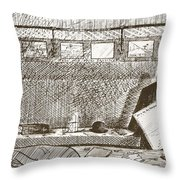Love Of Travelling Alone, Illustration Throw Pillow