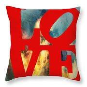Love On Fire Throw Pillow