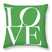 Love On Green Throw Pillow