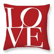 Love On Red Throw Pillow
