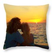 Love On The Beach Throw Pillow