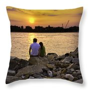 Love On The Rocks In Brooklyn Throw Pillow by Madeline Ellis