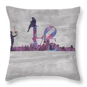 Love Over Paris Throw Pillow