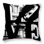 Love Philadelphia Black And White  Throw Pillow