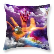 Love Poured Out Throw Pillow