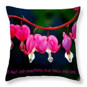 Love Quote Throw Pillow