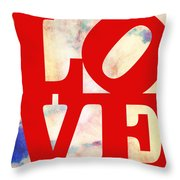 Love Riding On Clouds Throw Pillow