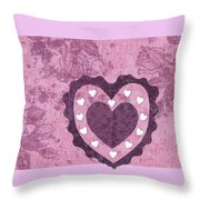 Love Series Collage - Heart 2 Throw Pillow