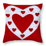 Love Series Collage - Heart 1a Throw Pillow