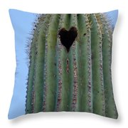 Love Shack Saguaro With A Heart Throw Pillow