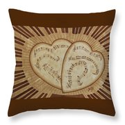 Love Song Of Our Hearts Throw Pillow